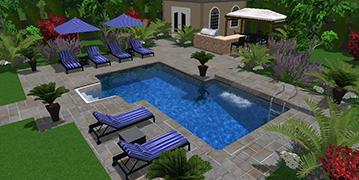 Installation et r paration de piscine creus e piscine hudon - Forme de piscine creusee ...