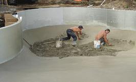 Vente et installation de piscine creus e piscine hudon for Piscine finition beton